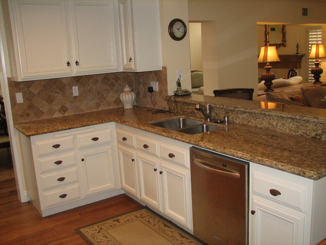 Calabasas home remodel white kitchen update traditional for Update white kitchen cabinets