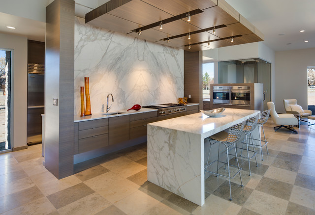 Calacatta Gold Marble Kitchen - Contemporary - Kitchen - albuquerque ...