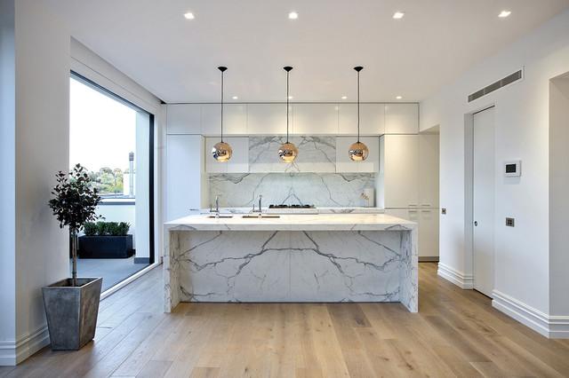 Outstanding Calacatta Marble Projects Modern Kitchen Melbourne Machost Co Dining Chair Design Ideas Machostcouk