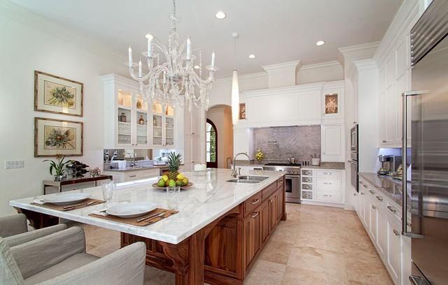 Calacatta Sponda Marble Eclectic Kitchen Miami By