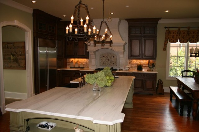 Calcutta Gold Marble Countertops Traditional Kitchen Nashville By Brentwood Granite