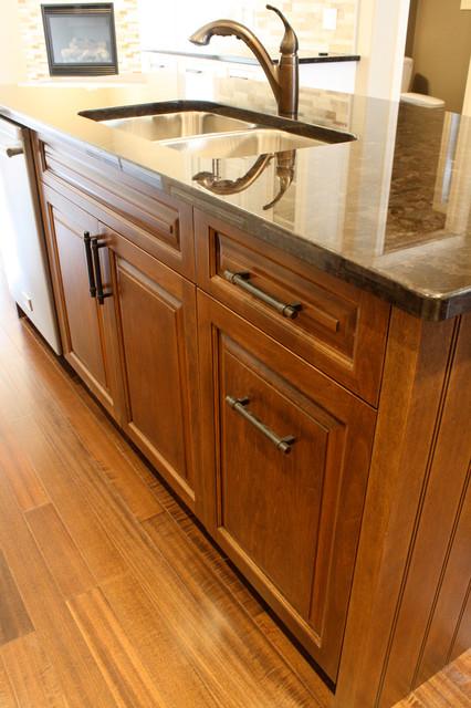 calgary kitchen designer white american walnut raised