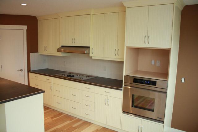 Calgary Kitchen - V Groove Custom Panel Paint Grade modern-kitchen