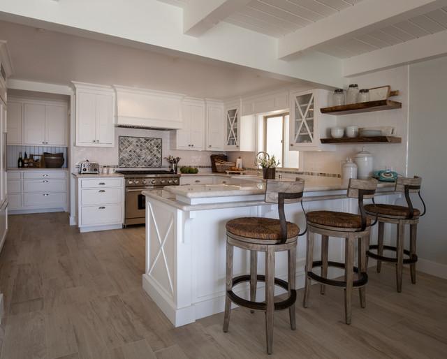 California beach cottage beach style kitchen los for California style kitchen