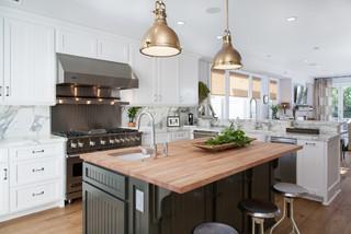 california cape cod - beach style - kitchen - orange county -