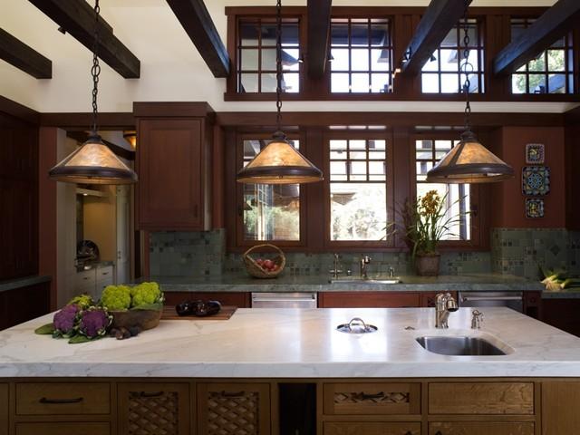 California Contemporary Craftsman Craftsman Kitchen