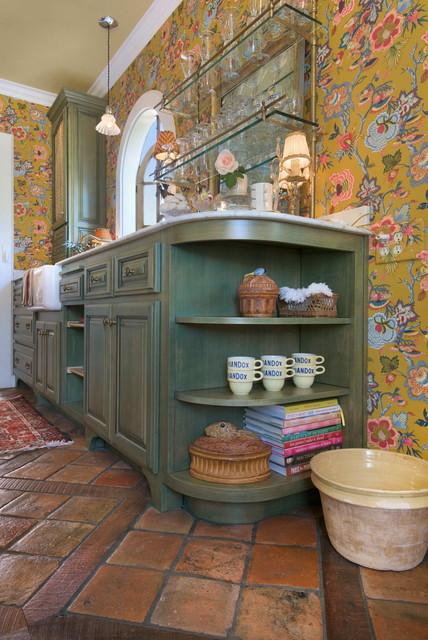 California Kitchen Remodel With Reclaimed French Terracotta Floor Tilesmediterranean Sacramento