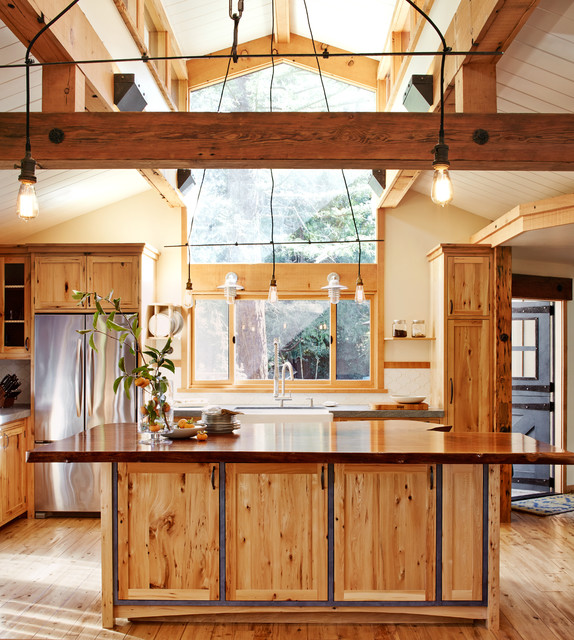 California Rustic Wood Light Filled Home