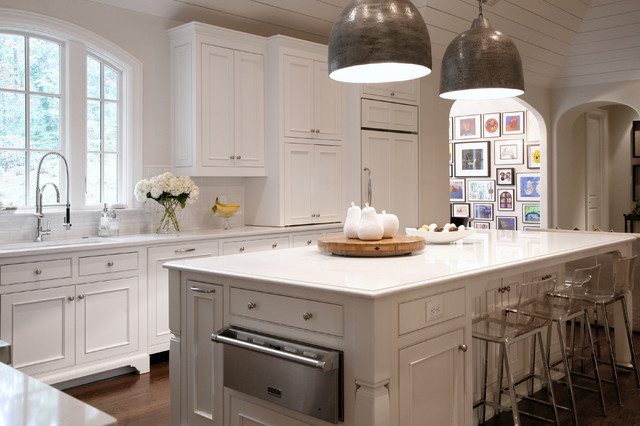 Inspiration For A Timeless Kitchen Remodel In Atlanta With Quartz Countertops