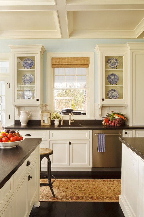 If You Donu0027t Care For The White Stone Look They Also Have A Black Granite  Knockoff. Get The Look These Kitchens.