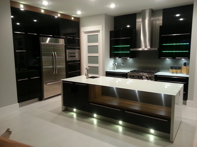 Cameron Heights Edmonton Contemporary Kitchen Edmonton By Eurolux Kitchens Ltd