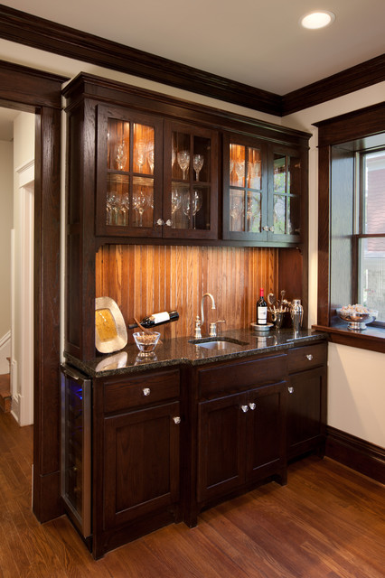 Campbell Craftsman bar cabinet - Traditional - Kitchen - Kansas City ...