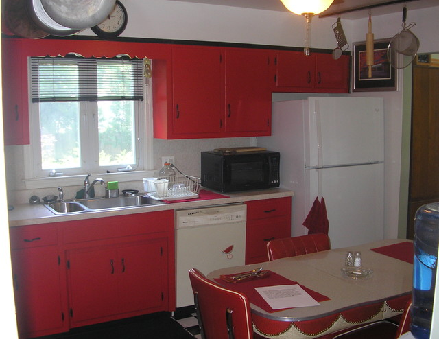 Terrific Camporeale Retro 50S Kitchen Eclectic Kitchen New York Home Interior And Landscaping Ologienasavecom