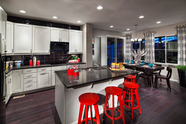 Candelas Collage Model Kitchen/Dining Area contemporary-kitchen