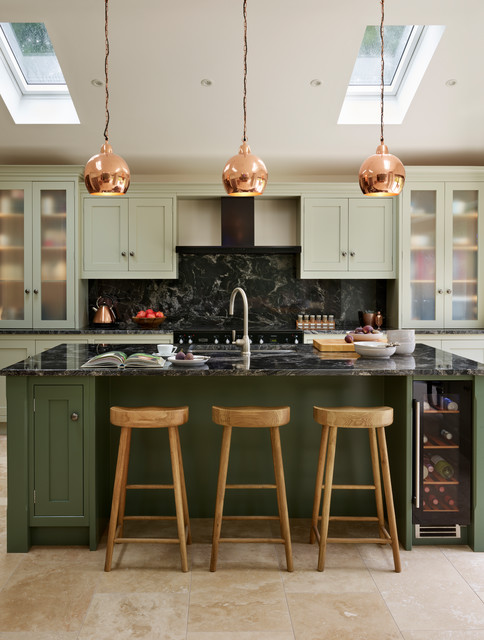 Canterbury | A Vision In Green transitional-kitchen