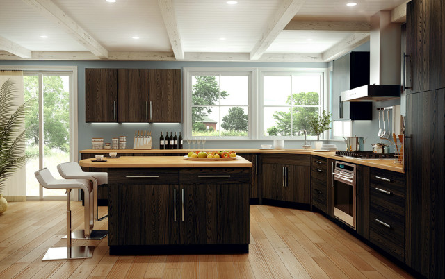 modern oak kitchen cabinets creek cornerstone copenhagen oak espresso 23563
