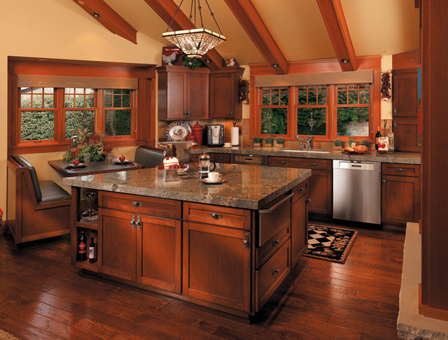 Canyon Creek Cornerstone - Normandy in Cherry with a Cayenne finish traditional-kitchen