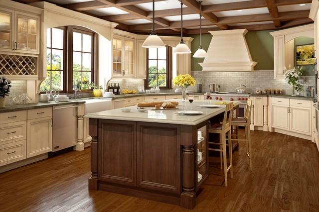 Canyon creek cornerstone prescott alder whisper white for Canyon creek kitchen cabinets