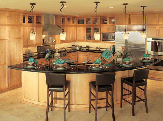 Cinnamon stain  Contemporary  Kitchen  seattle  by Canyon Creek