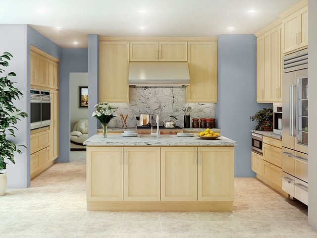Canyon Creek Cornerstone Shaker Maple Natural Contemporary Kitchen