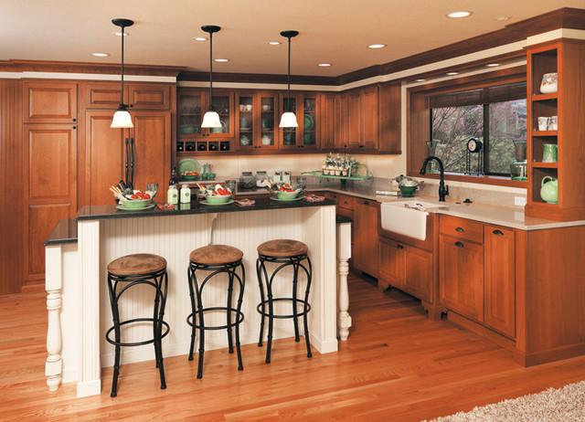 Canyon creek cornerstone stratford in maple creme choc for Cinnamon cherry kitchen cabinets