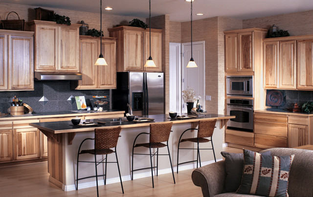 Natural finish asian kitchen seattle by canyon creek cabinet