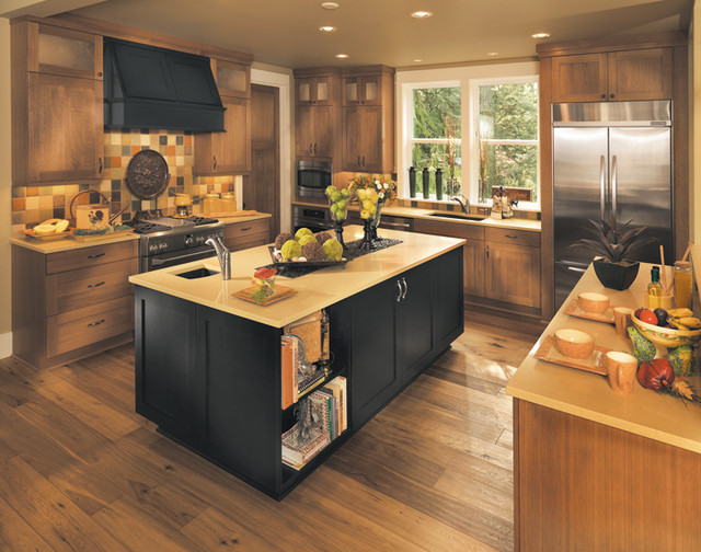 Canyon creek millennia valley forge in rift white oak for Canyon creek kitchen cabinets