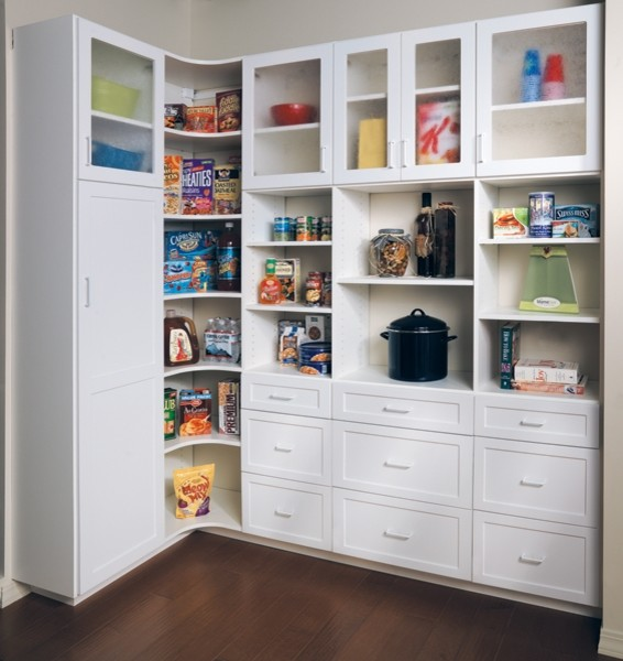 Canyon Creek - Pantry in White Melamine - Traditional - Kitchen ...