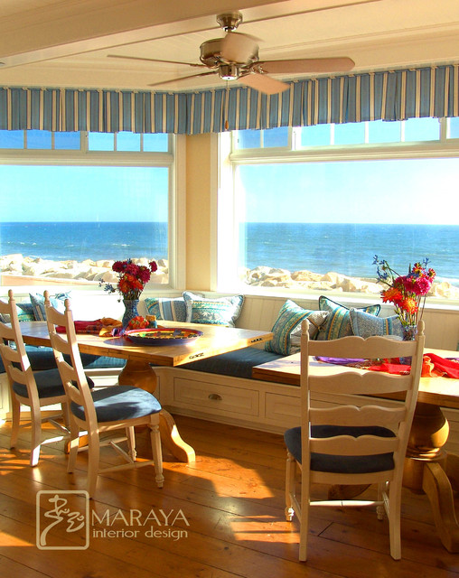Cape Cod Dining Room Overlooking the Pacific Ocean traditional dining room