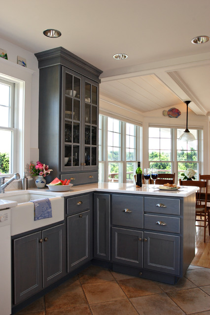 Cape cod home renovation traditional kitchen boston for Cape cod house renovation