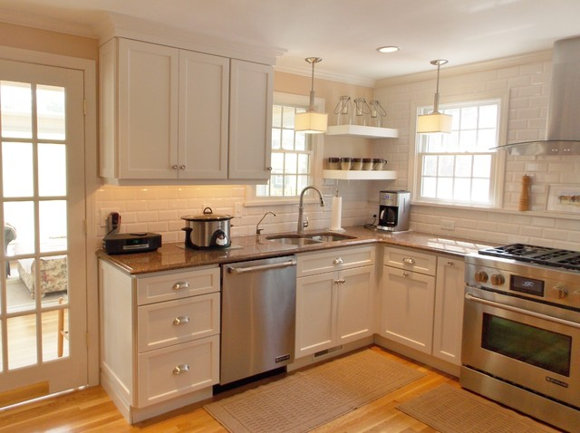 Houzz White Painted Kitchen Cabinets