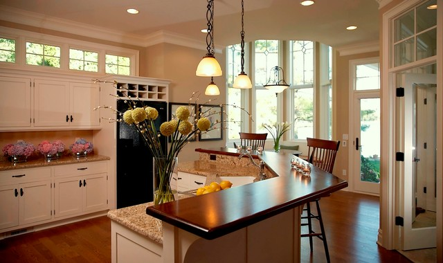 Cape Cod Shingle Style Lake Home Victorian Kitchen