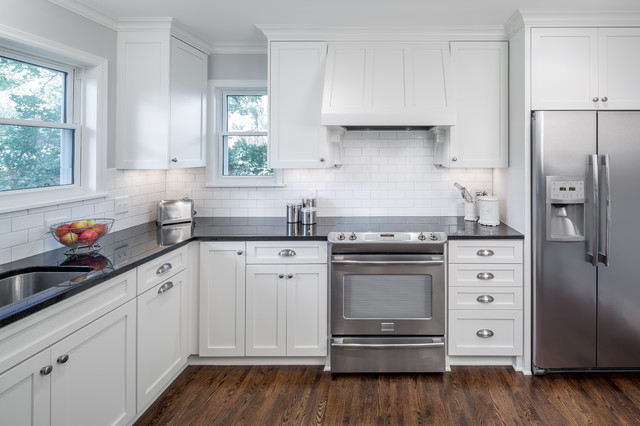 cape cod style remodel transitional kitchen