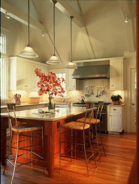 Cape renovation in Connecticut traditional-kitchen