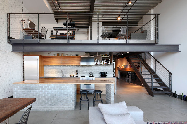 Capitol Hill Loft Industrial Kitchen Seattle by SHED