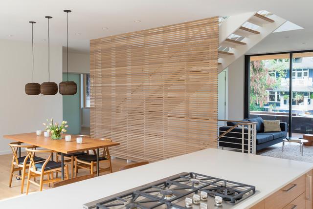 Vertical Wood Slat Wall Divider - Wall Design Ideas