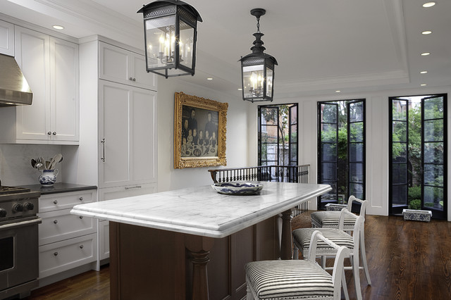 Traditional Kitchen Designs   Elegant Kitchen Photo In DC Metro With Marble  Countertops