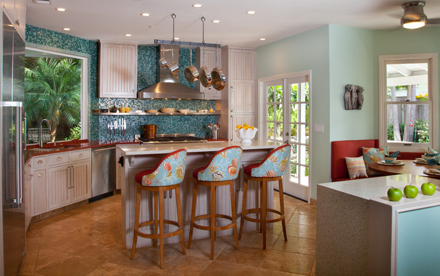 Cardiff family kitchen tropical kitchen san diego for Tropical kitchen designs