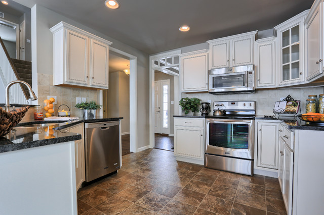 The kitchen in the Cardinal Model, designed by Garman Builders, Inc
