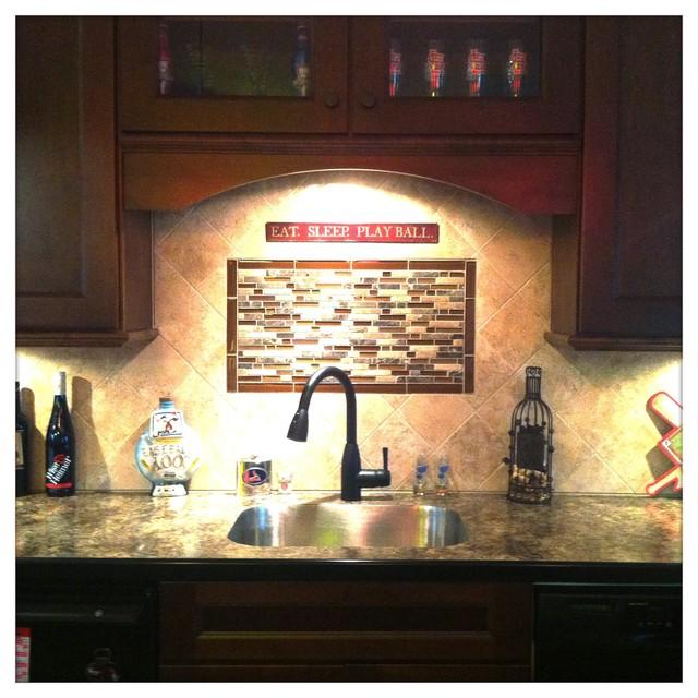 Cardinals Basement traditional-kitchen