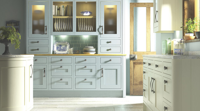 Carisbrooke Blue Kitchen Contemporary Kitchen Other Metro By B Q
