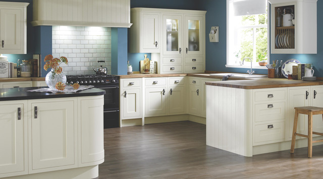Carisbrooke Cream Kitchen Contemporary Kitchen Other Metro By B Q