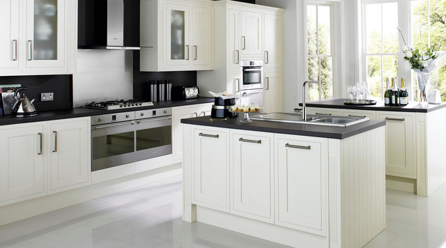 Carisbrooke White Kitchen Contemporary Kitchen Other Metro By B Q