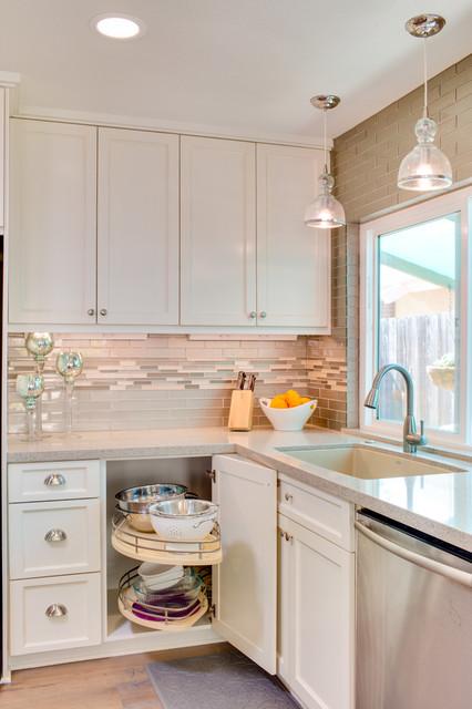 Carlsbad Beach Cottage Contemporary beach-style-kitchen