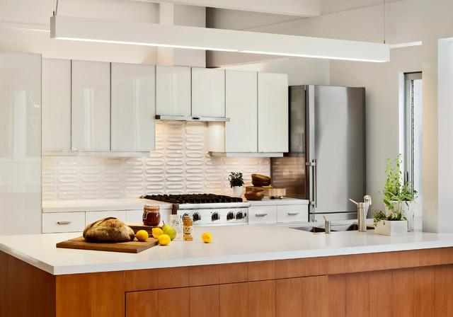 midcentury modern kitchen remodeling   midcentury modern galley kitchen photo in san francisco with stainless steel 3d tile kitchen ideas  u0026 photos   houzz  rh   houzz com