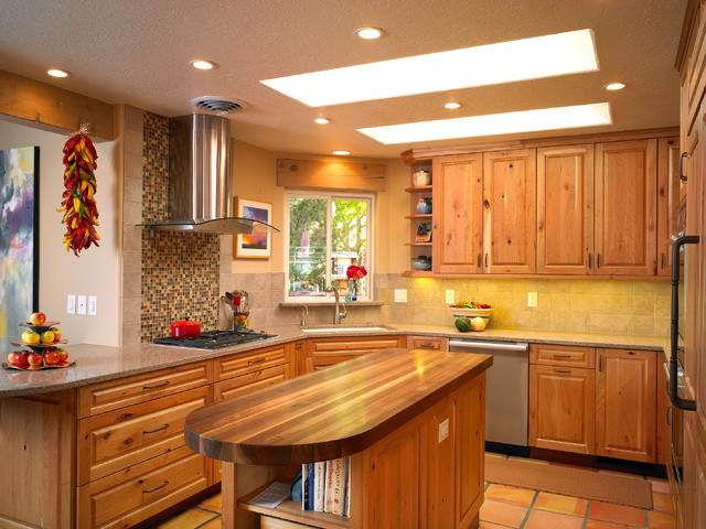 Carmel Southwest Knotty Cherry Kitchen Southwestern Kitchen Albuquerque By Marc Coan