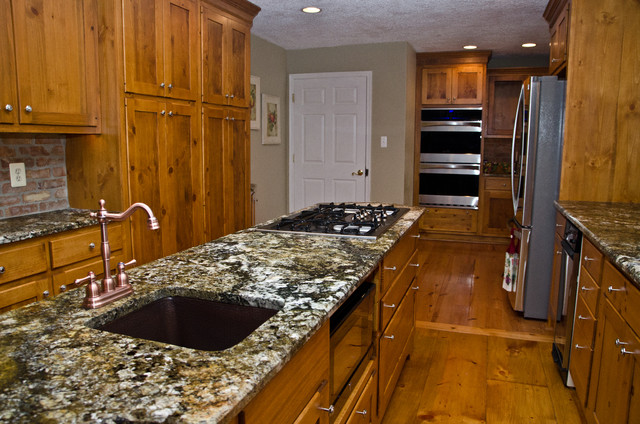 Carnival Granite And Pine Cabinets Eclectic Kitchen DC Metro By Grani