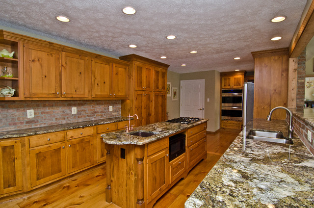 Carnival Granite and Pine Cabinets - Traditional - Kitchen - DC Metro - by Granite Grannies