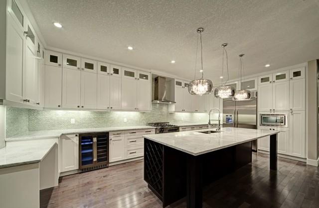 carrara marble kitchen - contemporary - kitchen - calgary -