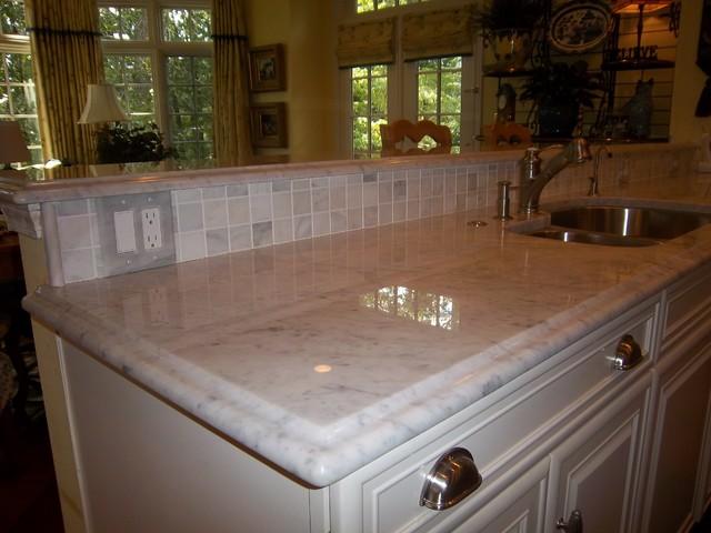 Carrara marble renovation traditional kitchen atlanta by pdp carrara marble renovation traditional kitchen ppazfo